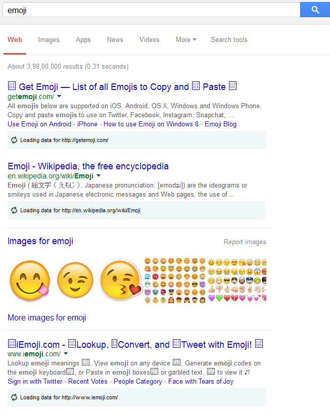 Emoji's in Title and Description Tag of Search Engines