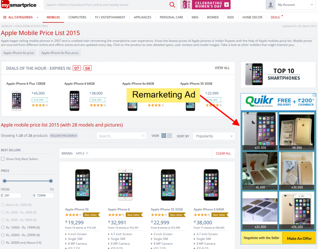 remarketing ads