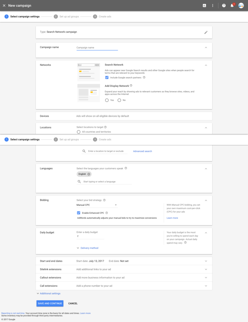 Google AdWords New Design 2017
