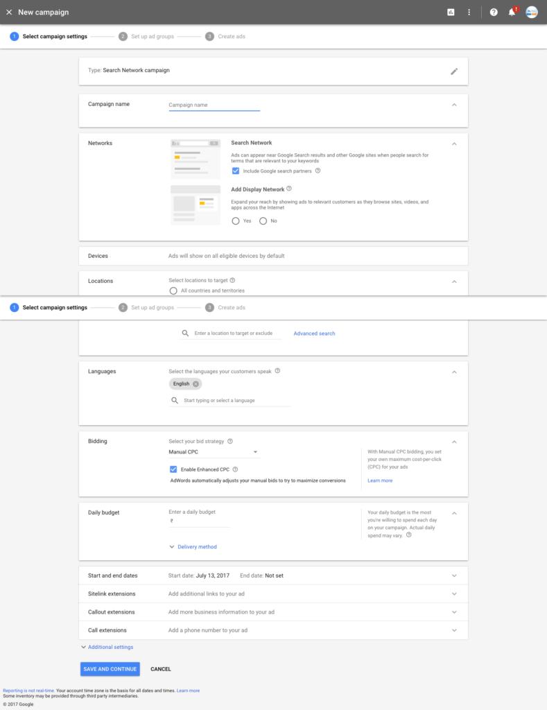 Google AdWords New Design 2017