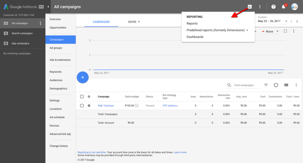 AdWords Reporting New Design