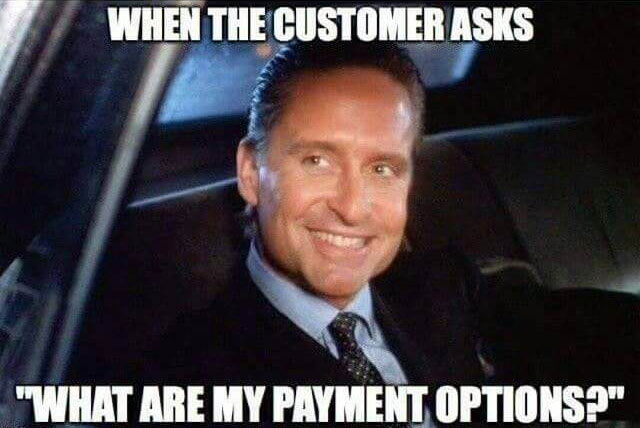 payment options meme