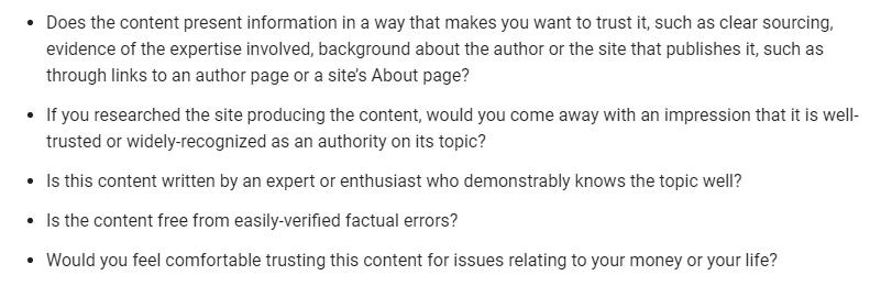 EAT Questions