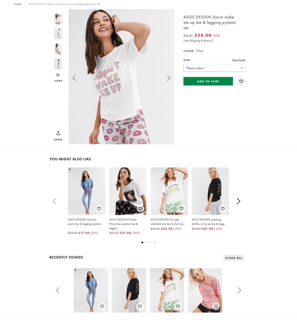 AI driven e-commerce product recommendations