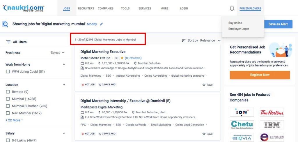 digital marketing jobs in mumbai