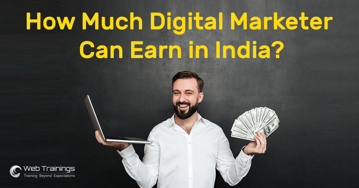 How much a digital marketer can earn in India?